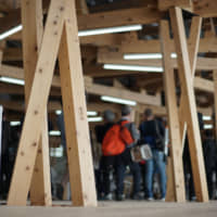Athletes Village buildings for Tokyo Olympics draw on traditional Japanese woodwork