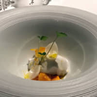 Lotus root blancmange with uni and kumquat compote: Chef Ryoma Shida's menu at Elan is precise and seasonal, deftly incorporating Japanese ingredients into his modern French cuisine. | ROBBIE SWINNERTON