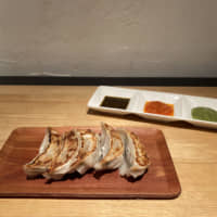 French flair: Gyoza Bar Comme a Paris' gyōza are served with three flavorful dipping sauces. | CLAIRE WILLIAMSON