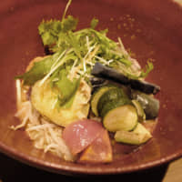 The veggie side of life: Mazesoba Bunka's vegan mazesoba ('mixed noodles') includes an eclectic mix of sweet potato, avocado, tomato, bean sprouts, zucchini and mustard greens. | CHISATO TANAKA