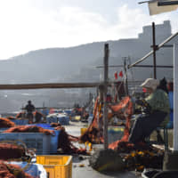 A view of Ijika port in Toba, Mie Prefecture | KYODO