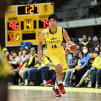 Small forward Yusei Sugiura's energetic play has helped the Sunrockers win 10 of their first 14 home games. | B. LEAGUE