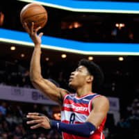 Rui Hachimura is averaging 13.9 points and 5.8 rebounds per game in his first NBA season. | USA TODAY / VIA REUTERS
