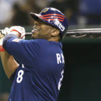 Tuffy Rhodes hit 464 home runs and finished with 1,269 RBIs in 13 seasons in Japan. | KYODO