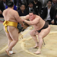 Yokozuna Hakuho, the all-time record holder with 43 Grand Sumo Tournament titles, could be entering his final year in the ring in 2020. | KYODO