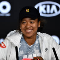 Naomi Osaka speaks at a news conference on Saturday ahead of the Australia Open in Melbourne, Australia. AFP-JIJI | AFP-JIJI