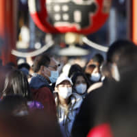 The coronavirus outbreak has dampened the business outlook for companies sensitive to economic trends, government data showed Monday. | KYODO