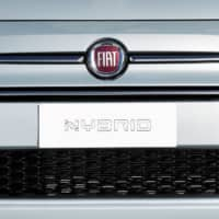 A new Fiat 500 mild-hybrid car is displayed at a Fiat Chrysler event held to unveil its first hybrid models, in Bologna, Italy, Tuesday. | REUTERS