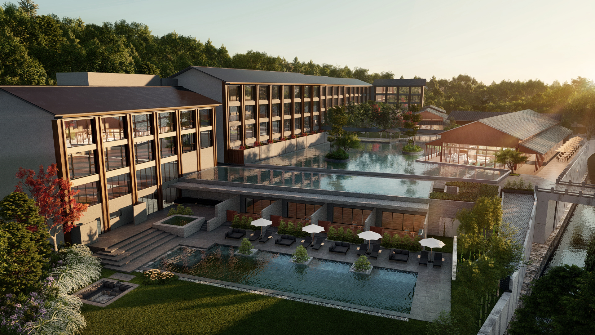 An artist's rendering shows the hotel Hilton is planning under its LXR Hotels & Resorts brand to open in the city of Kyoto in fall 2021   TOKYU LAND CORP.