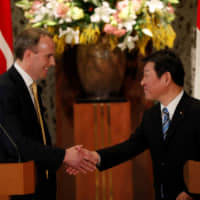Japan and Britain agree to aim for 'ambitious' trade deal