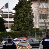 French police shoot knife-wielding barracks intruder following attack warning