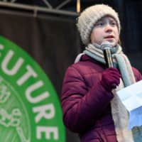 Swedish environmental activist Greta Thunberg speaks during the Fridays for Future protest in Hamburg, Germany, Feb. 21. | REUTERS