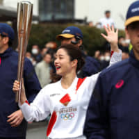 Rehearsal for Olympic torch relay held in western Tokyo
