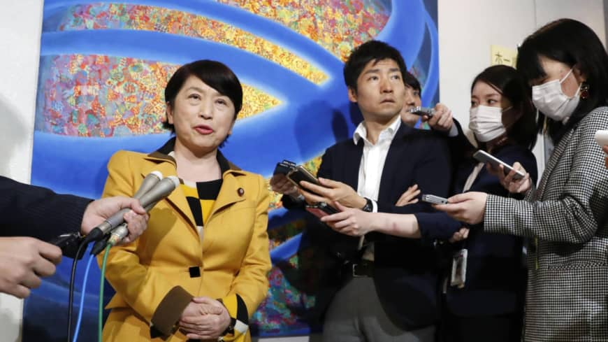 Japan's Social Democratic Party looks to the past in picking Mizuho Fukushima for top post