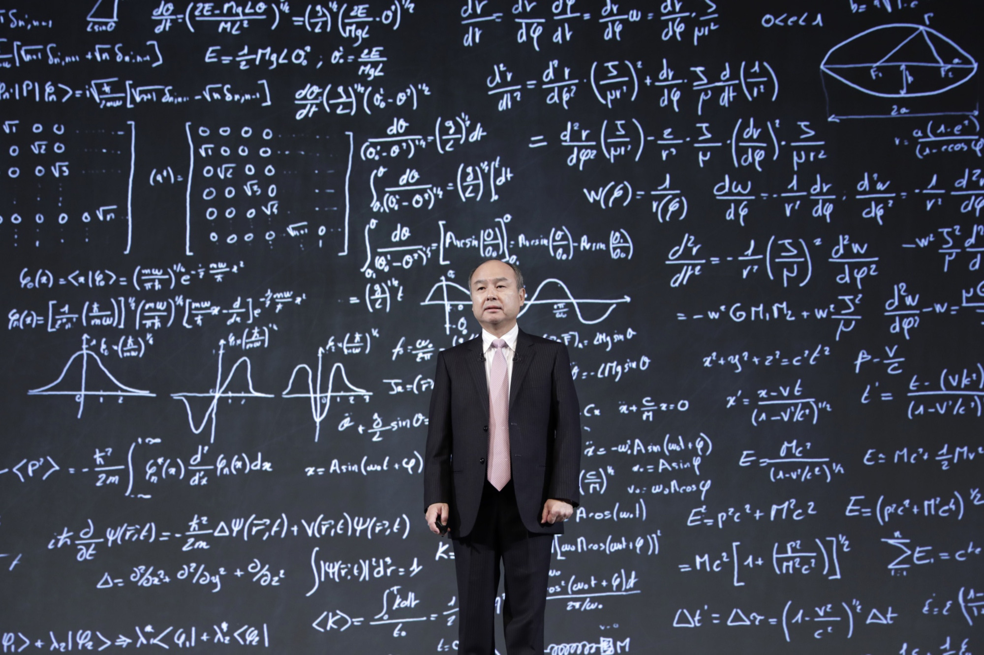 SoftBank's Masayoshi Son seems undeterred by the poor market reception to his marquee investments and says he still has plans to raise another massive investment fund. | BLOOMBERG