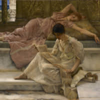 Lawrence Alma-Tadema's 'A Favorite Poet' (1888) | NATIONAL MUSEUMS LIVERPOOL, LADY LEVER ART GALLERY, COURTESY NATIONAL MUSEUMS LIVERPOOL, LADY LEVER ART GALLERY.