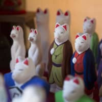 Practically Noah's Ark: Foxes are one of the 90 types of dolls Shirai and his wife, Rihoko, make at their workshop.