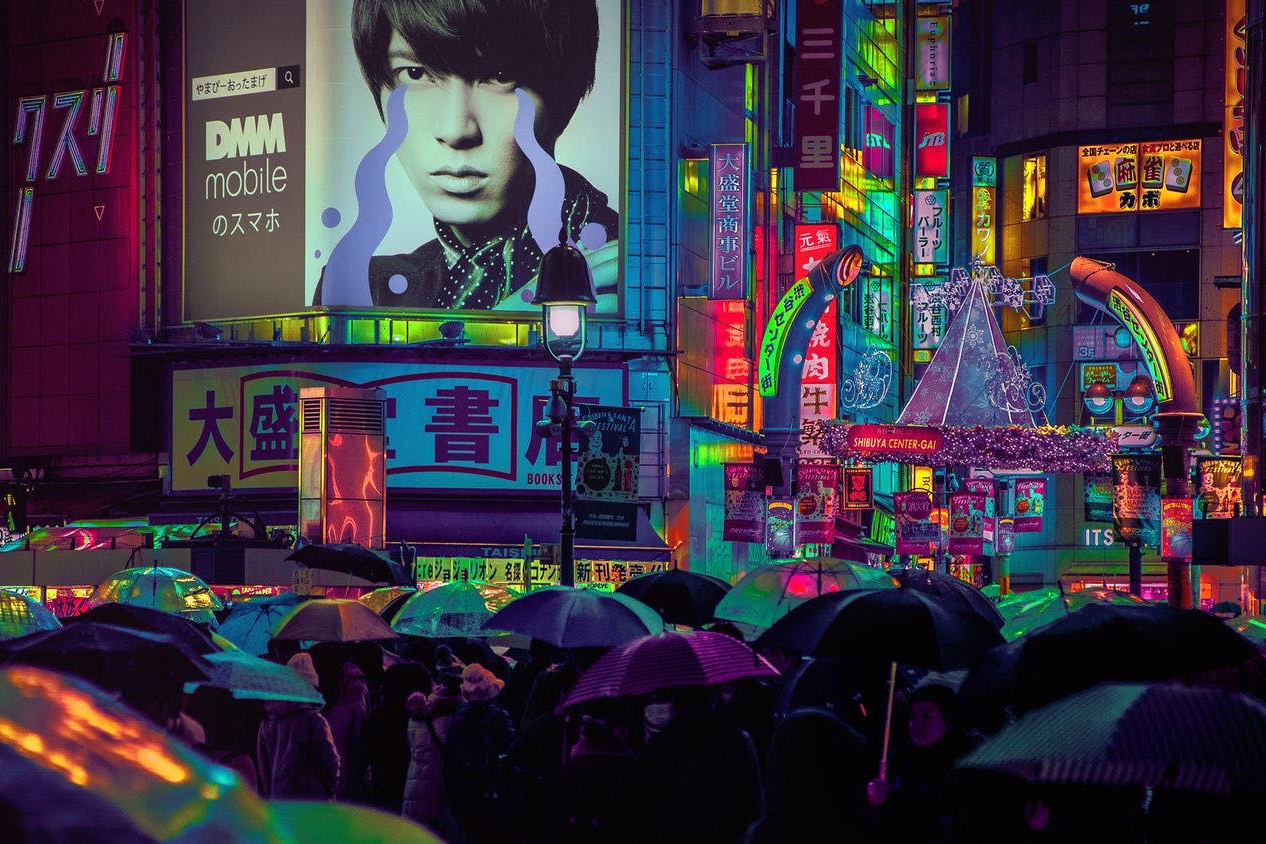After dark: Liam Wong started out as a game designer before using his skills as a photographer to portray his vision of Tokyo.   LIAM WONG