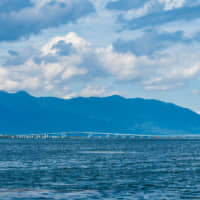 The temperature of Lake Biwa's water reached 30 degrees Celsius last summer — a record high. | PHILIPPE VOISIN