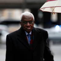 Former IAAF chief Lamine Diack attends court hearing