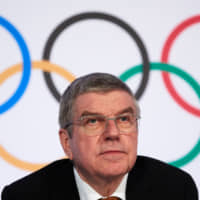 IOC President Thomas Bach attends a news conference in Lausanne, Switzerland on Jan. 9. | REUTERS