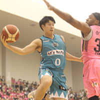 Hannaryz rookie guard Ryo Terashima has made a solid impact for the West Division club since making his pro debut in December. | B. LEAGUE