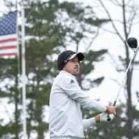 Nick Taylor hits his tee shot on the 10th hole during the third round of the AT&T Pebble Beach Pro-Am on Saturday at Spyglass Hill Golf Course. | USA TODAY / VIA REUTERS