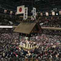 Known as the spiritual home of sumo, Tokyo's Ryogoku Kokugikan will also host the boxing competition at the 2020 Tokyo Olympics. | KYODO