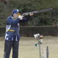 Naoko Ishihara takes a shot during a practice session in January in Tochigi Prefecture. | KYODO