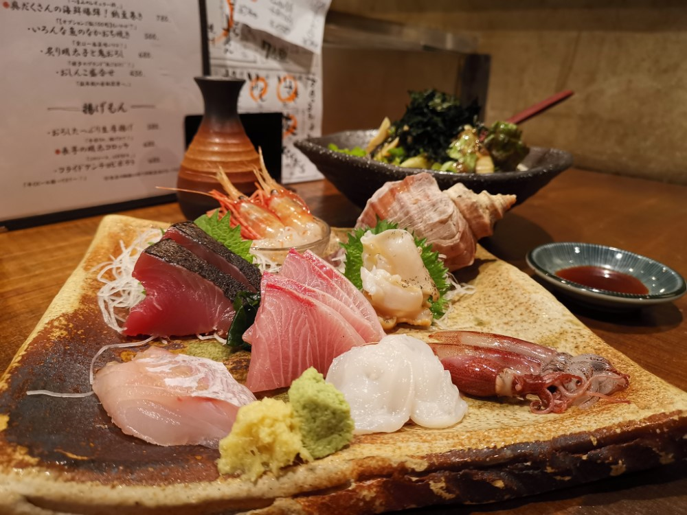 One fish, two fish: The name Totogen contains two repetitions of the Chinese character for fish. Good thing its sashimi of the day lives up to expectations.   PHOEBE AMOROSO