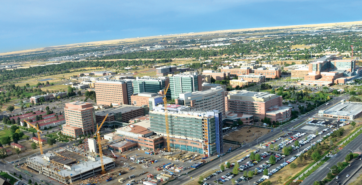 The Anschutz Medical Campus and Fitzsimons Innovation Community in Aurora, Colorado, are advancing patient care, education and biomedical research and technology through collaboration and innovation. | © CITY OF AURORA