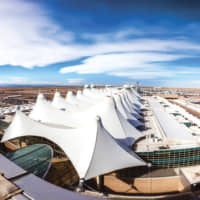 The airport's iconic roof is meant to resemble both Colorado's snow-capped mountains and Native American teepees. | © DEN INTERNATIONAL AIRPORT