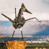 The iconic recycled roadrunner sculpture overlooks the thriving city of Las Cruces, New Mexico. | © CITY OF LAS CRUCES