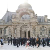 Group of Seven finance ministers and central bank governors walk into Chateau de Chantilly during the G7 finance ministers and central bank governors meeting in Chantilly, France, last July.   BLOOMBERG