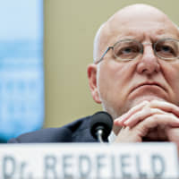 Robert Redfield, director of the U.S. Centers for Disease Control and Prevention, listens during a hearing of the House Energy and Commerce Subcommittee on Health in Washington on Wednesday. | BLOOMBERG
