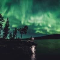 The Northern Lights over Ivalo in Finland's Lapland region | REUTERS