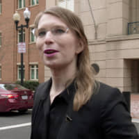 Chelsea Manning speaks outside a U.S. federal courthouse in Alexandria, Virginia, on March 8, 2019. | FORD FISCHER / NEWS2SHARE / VIA REUTERS