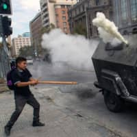 Violent Chilean protests marks Sebastian Pinera's two years in power