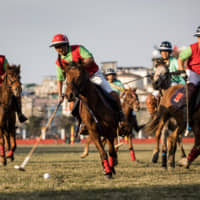 A Linthoingambi Kangjei Lup Polo Club player shoots during a state match against Chingkheihunba Polo Club in Imphal, the capital of the northeast Indian state of Manipur.   AFP-JIJI