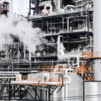 The Nakoso IGCC Power GK integrated gasification combined-cycle power plant in Iwaki, Fukushima Prefecture, is one of the coal-fired plants designed by Mitsubishi Hitachi Power Systems that use less coal to render the same amount of power. | BLOOMBERG