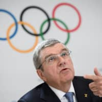 International Olympic Committee President Thomas Bach attends a news conference at the closing of an Olympic session in Lausanne, Switzerland, on Jan. 11. | AFP-JIJI