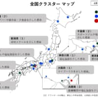 The health ministry has released on its website a map of Japan showing where clusters of infected cases have been confirmed. | KYODO