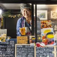 Pulp or no pulp?: Mayuko Kadota is the vivacious owner of Kinyo Juice Bar, a food truck at Taiyou no Marche that serves freshly squeezed juice made with nonstandard fruit she buys directly from producers in Yamanashi Prefecture. She adds no sugar, ice, artificial flavors or coloring.