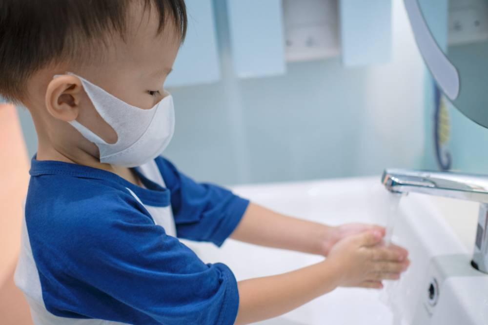 Keeping clean: The Japanese school year traditionally starts in April. While classes at preschools are still in doubt this year due to the outbreak of COVID-19, parents will no doubt be preparing just in case. | GETTY IMAGES