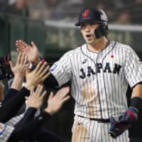 Seiya Suzuki was one of the key members of the national team during the 2019 Premier12 | KYODO