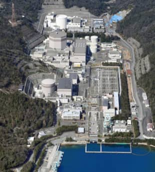Reactor 1 of Japan Atomic Power Co.'s Tsuruga nuclear power plant was the first reactor built in Fukui Prefecture. | CHUNICHI SHIMBUN