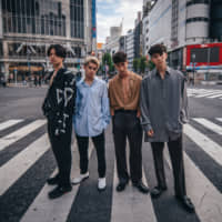 Breaking boundaries: Intersection (from left, William Aoyama, Caelan Moriarty, Mika Hashizume and Kazuma Mitchell) is one of only a handful of acts bringing a cross-cultural ethos to the J-pop scene.
