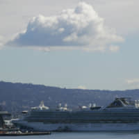 The Grand Princess is shown docked in Oakland, California, on Wednesday. | AP