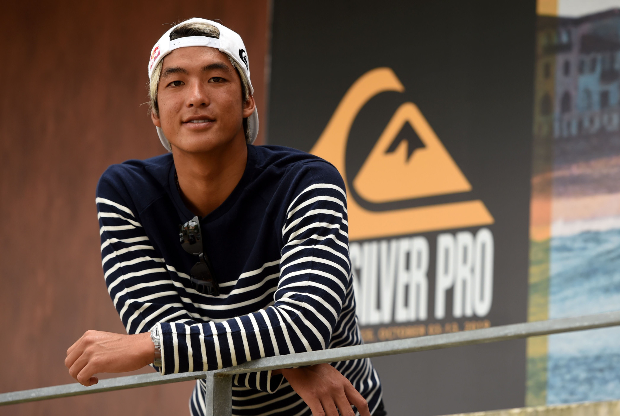 Surfer Kanoa Igarashi poses before the Quiksilver & Roxy Pro France 2019 surf competition on Oct. 2, 2019, in Capbreton, France. | AFP-JIJI