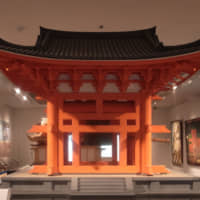 A scale replica of a belfry of Todaiji temple circa the Kamakura Period (1185-1333), a national treasure.